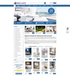 eCommerce di lampade IdeaLuce