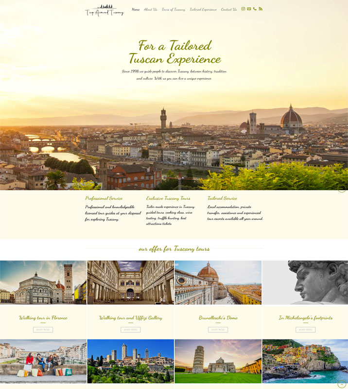 Triparoundtuscany sito web